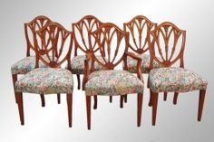 #16507 what an amazing set of six kitchen chairs!