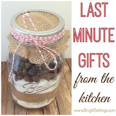 Seven ideas for last minute gifts you can DIY right in your own kitchen! #giftideas #DIY #Christmasgifts