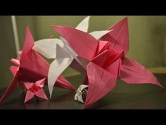 Origami: How to Make a Paper Lily - YouTube