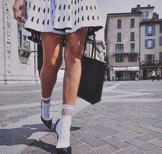 "Marcoliani New Fashion Essential ""Shopping"" Sheer Top Band Socks"