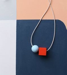 2 shapes make a necklace by notTuesday on Etsy