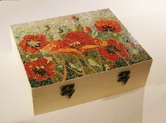 Teabox with egg shell mosaic
