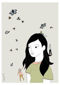 Moth girl - by Pintameldia