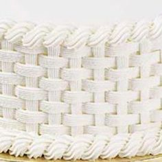 How to make a basketweave pattern on a cake