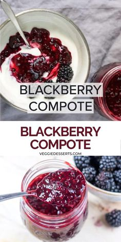Crockpot Dessert Recipes, Jam Recipes, Fruit Recipes, Sweet Recipes, Vegan Recipes, Cooking Recipes, Blackberry Recipes Easy, Soup Recipes, Pancake Toppings
