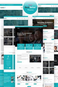Are you looking for the best WordPress business theme for your website? We have created list of modern and elegant business WordPress themes. Corporate Website Design, Wordpress Website Design, Wordpress Theme Design, Corporate Design, E Commerce Business, Custom Website, Web Design Inspiration, Design Ideas, Blogger Templates