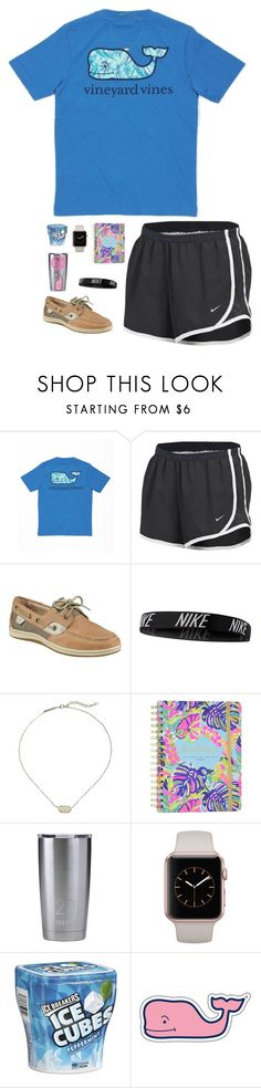 """"""":)) Idk what to title this..."""" by jessica-smith-xxv ❤ liked on Polyvore featuring Vineyard Vines, NIKE, Sperry, Kendra Scott, Lilly Pulitzer and Takeya"""