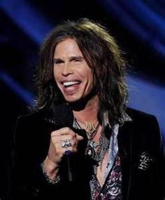 Singer Steven Tyler appears onstage at a press conference ...