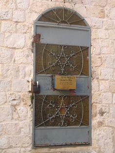 Door with Kupat Zedaka -  Charity Box, Jewish quarter