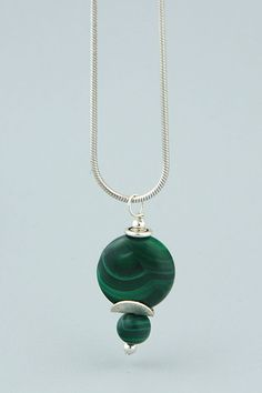 Like a mentor sent to guide you in the right direction, malachite is a stone of change and transformation Healing Gemstones, Malachite, Bling, Pendants, Change, Pendant Necklace, Crystals, Sterling Silver, Jewelry