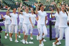 Model ball girls make wave at Tennis Miami Cup