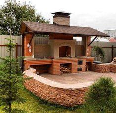 New outdoor patio bbq pergolas ideas Small Patio Design, Outdoor Kitchen Design, Design Barbecue, Parrilla Exterior, Patio Edging, Cheap Patio Furniture, Outdoor Oven, Bbq Outdoor Area, Outdoor Barbeque