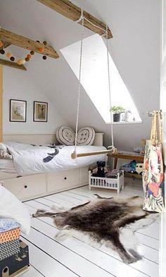 Habitaciones infantiles en color blanco (V) #decoración, #interiorismo