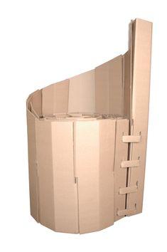 Cardboard Chair Design by KJ Ehr, via Behance