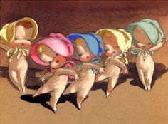 """""""Baby Ballet"""", concept art by Sylvia Moberly-Holland and Mary Blair."""