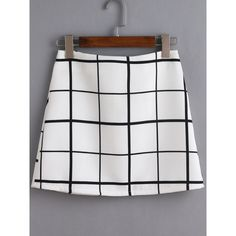 Black And White Grid A Line Skirt (57515 PYG) ❤ liked on Polyvore featuring skirts, black and white, a line mini skirt, black and white tartan skirt, a-line skirt, tartan skirt and a line plaid skirt