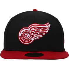 Men's Detroit Red Wings New Era Black/Red 2-Tone 59FIFTY Fitted Hat 2