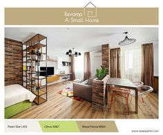 A room divider can open and close as needed, or moved. Check out these awesome room divider ideas that can work in nearly any space, large or small. Appartement Design Studio, Studio Apartment Design, Studio Apartments, Studio Apartment Divider, Open Space Living, Small Living, Living Spaces, Apartment Decorating On A Budget, Apartment Makeover