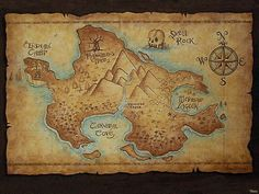 Neverland map, framed and hung over the crib would be perfect for the peter pan themed nursery!