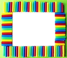 How to make a pipette frame now includes material activities, work and samples, making this kinderga Straw Crafts, Dyi Crafts, Frame Crafts, Diy Frame, Summer Crafts For Kids, Diy For Kids, Gifts For Kids, Preschool Mothers Day Gifts, Pencil Crafts