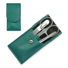 Hans Kniebes Sonnenschein Manicure Set with nail file Nappa Leather Case 8595647329765