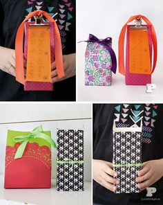 PB_upcycle cartons and boxes into gift containers!