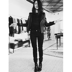 """""""Hot Hot Hot in our Jade Quilted leather jacket! Happy to present Sara from our new US agent @galoregroupe ✌️ #bymalina #galoregroup #bymalinaus #bikerjacket #leatherjacket"""" Photo taken by @bymalinas on Instagram, pinned via the InstaPin iOS App! http://www.instapinapp.com (12/30/2015)"""