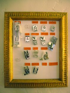 sewing room organization ideas   ... By Meg: Sewing Space: Presser Foot ...   Sewing/Craft Room Ideas