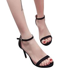 0cf30a99ee4 Fashion Women Transparent Sandals Ankle High Heels Block Party Open ...