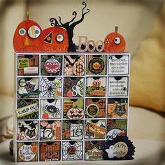 Calendar Halloween Ornaments Halloween Countdown Halloween Boo Halloween Projects Halloween Party Decor