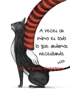 frase de velos think about. Best Quotes, Funny Quotes, Life Quotes, Motivational Phrases, Inspirational Quotes, More Than Words, Spanish Quotes, I Love Cats, Cat Art