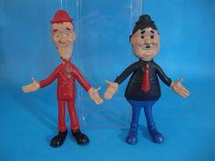 1967 Lakeside Laurel and Hardy Super Flex Bendy Figures  #Lakeside