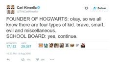 """The traits for the houses may have gotten a bit vague over time. 