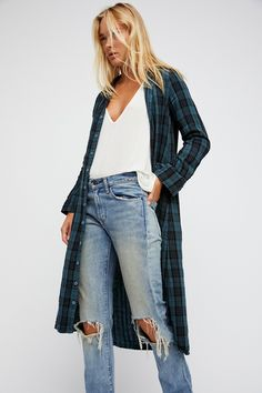 Doublecloth Plaid Maxi | Must-have maxi dress featuring an effortless buttondown design with a classic plaid print.    * Hidden side pocket details.