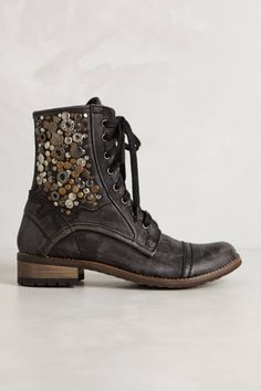 Coin Collage Lace-Up Boots - anthropologie