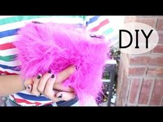 DIY Faux Fur Clutch - YouTube