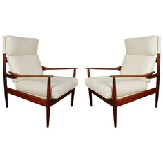 Pair of Danish Lounge Chairs Attributed to Grete Jalk, circa 1960 | From a unique collection of antique and modern lounge chairs at http://www.1stdibs.com/furniture/seating/lounge-chairs/