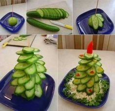 Komkommer kerstboom