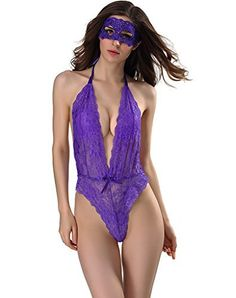 New Trending Bodysuits: Sexy Babydoll Lingerie Bodysuit from Stretchy Floral Lace for Women. Sexy Babydoll Lingerie Bodysuit from Stretchy Floral Lace for Women   Special Offer: $12.99      244 Reviews Sexy lingerie for women for sex Sheer chemise lingerie, sexy sleepwear will make you ravishing Ultrathin material , makes you subtile and more sexy in the lingerie Occasion:...