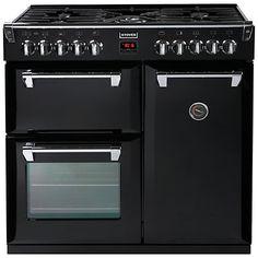 Stoves Richmond 900DFT Dual Fuel Range Cooker, Black.