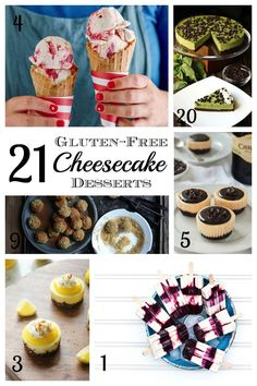 21 Gluten Free Cheesecake Desserts - a collection of some of the most indulgent cheesecake recipes, all wheat-free and fabulous! | cupcakesandkalechips.com