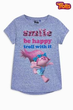 Buy Blue Trolls Slogan T-Shirt (3-16yrs) online today at Next: United States of America