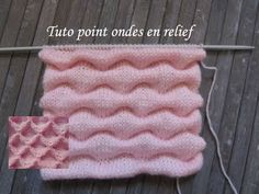 TUTO POINT ONDE RELIEF AU TRICOT Relief stitch knitting PUNTO RELIEVE ONDAS DOS AGUJAS - YouTube Poncho Knitting Patterns, Shawl Patterns, Knitting Stitches, Baby Knitting, Stitch Patterns, Knitting Videos, How To Purl Knit, Sewing Techniques, Knit Crochet