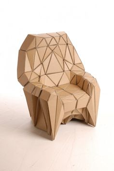 This design looks quite complicated in its assembly which utilizes a difficult Origami-style construction where it looks as if adhesives keep the chair stable & strong. I have concerns about this design where it would take a large amount of adhesives & material to construct, as well as trying to make it strong in its structure.