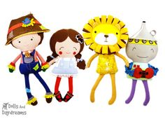 Wizard of Oz Sewing Pattern Set 3 - Dolls And Daydreams