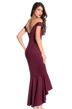 High-Low Mermaid Off Shoulder Plain Evening Dress is hot sale on ByChicStyle, come to ByChicStyle to see more trendy Evening Dresses online. Elegant Maxi Dress, Sexy Evening Dress, Evening Dresses Online, Mermaid Evening Dresses, Prom Dresses, Stretch Dress, Formal Gowns, Dress Collection, Dresses For Sale