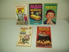 Vintage Mad Magazine paperbook lot of 5 books 1960's-1970's Alfred E Newman