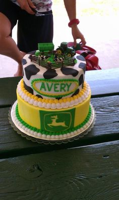 A John Deere Cake- it would say Cord instead
