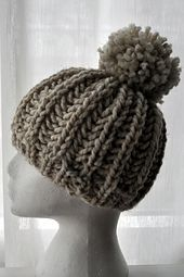 Ravelry: Classy Crochet Knit Fisherman Rib Hipster Hat pattern by Classy Crochet