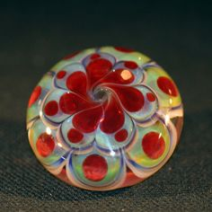 Handmade Glass Button with Glass Shank by American maker Shane Caswell